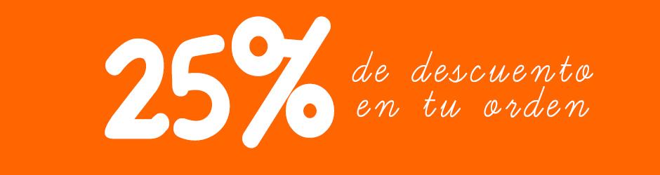 25% de Descuento compra mínima de B/9.99