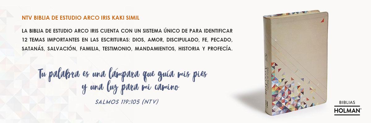 8. NTV BIBLIA DE ESTUDIO ARCO IRIS KAKI SIMIL