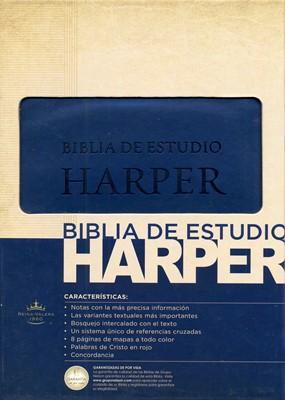 Biblia de Estudio Harper - Azul (Piel Italiana Azul)