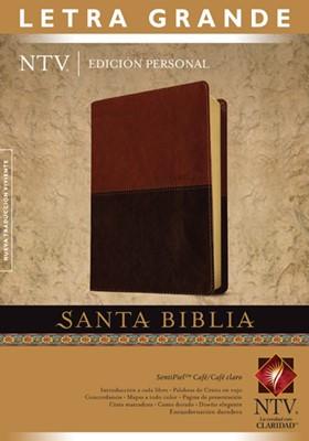 Biblia NTV Personal Letra Grande (Piel especial DuoTono café/negro con detalles) [Biblia]