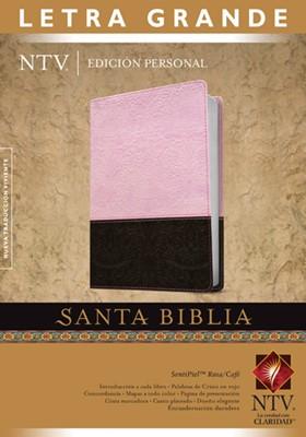 NTV Edición Personal Letra Grande (SentiPiel Rosa/Café) [Biblia]