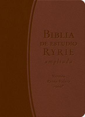 Biblia Ryrie de Estudio Ampliada (Imitación Piel DuoTono Marrón) [Biblia de Estudio]