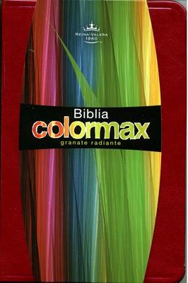 RVR 1960 Biblia de Bolsillo Colormax Roja (Piel elaborada color Granate Radiante)