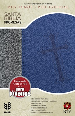 Biblia de Promesas Juvenil (Piel Especial Gris-Azul) [Biblia]