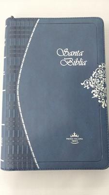 Biblia Ultrafina Azul Con Cierre (Imitación)