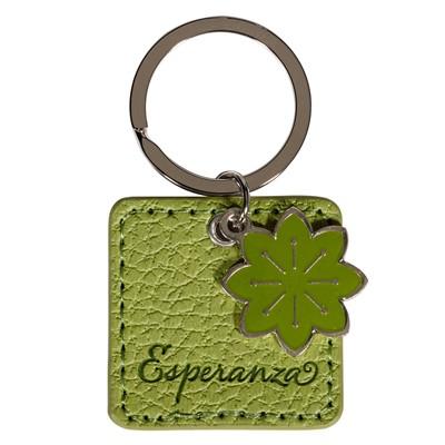 Llavero Verde Esperanza, Rom. 15:13 (Símil Cuero Verde) [varios]