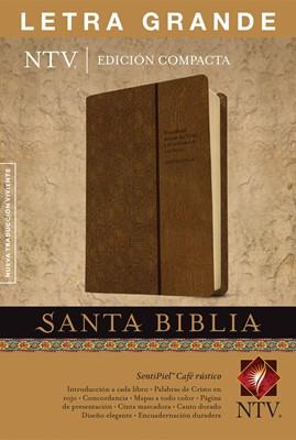 NTV Biblia Edición Compacta con Letra grande (Piel especial dos tonos café)