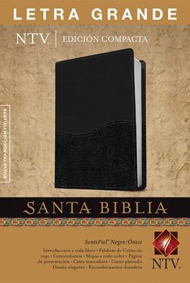 Biblia NTV Edición compacta Letra Grande (Piel especial - dos Tonos Negro/Onice ) [Biblia]