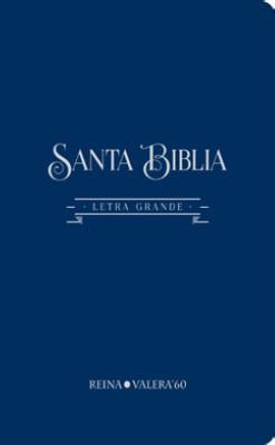Biblia Letra gigante (Tapa algodón texturado petróleo)