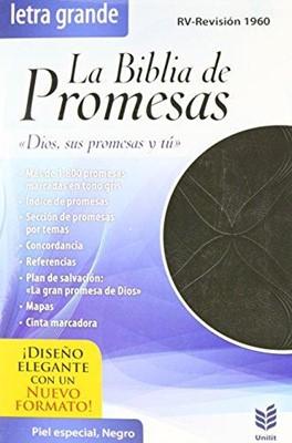 Biblia de Promesas Letra Grande con Índice (Piel Especial Negro)