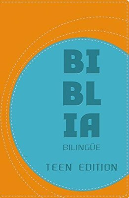 NVI/NIV Biblia Bilingue - Teen Edition (Soft Leather-Look, orange/blue)