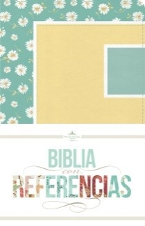 Biblia RVR con Referencias (Imitación Piel margaritas, turquesa/amarillo ) [Biblia]