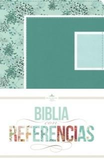 Biblia RVR con Referencias (Imitación Piel Verde Mar/Celeste) [Biblia]