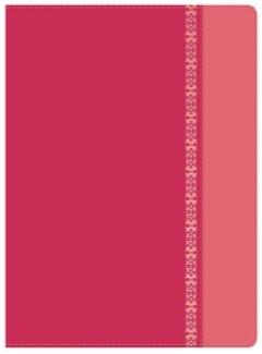 RVR 1960 Biblia de Estudio Holman (Imitación Piel Fucsia/Rosado con filigrana)