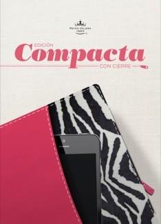 Biblia RVR Edición Compacta (Imitación Piel Fucsia/Cebra con Cierre) [Biblia]