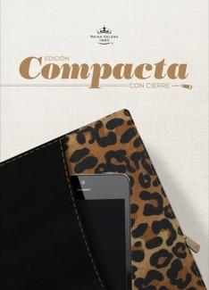 RVR1960 Biblia Edición Compacta con Cierre (Imitación Piel Negro/Leopardo)