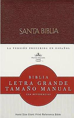 Biblia RVR Letra Grande Tamaño Manual Con Referencias (Imitación Piel Rojiza) [Biblia]