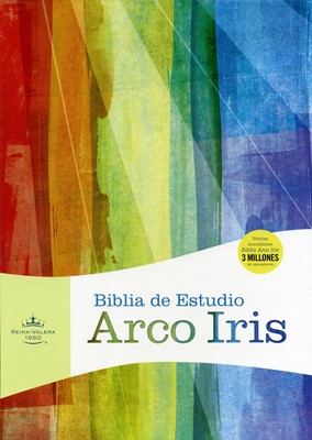 Biblia RVR de Estudio Arco Iris (Imitación Piel Negro ) [Biblia de Estudio]
