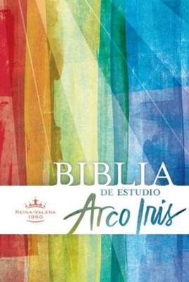 Biblia RVR de Estudio Arco Iris con Índice (Imitación Piel Negro ) [Biblia de Estudio]