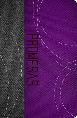 RVR 1960 Biblia de Promesas: Edición Juvenil (Piel especial Dos tonos Gris/Purpura )