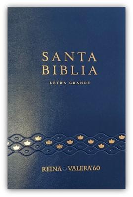 RVR 1960 Biblia Letra Grande con Concordancia (Vinilo Azul)