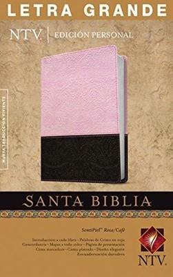 Biblia NTV Edición Personal Letra Grande (Piel especial Dos tonos Marrón/Rosado) [Biblia]