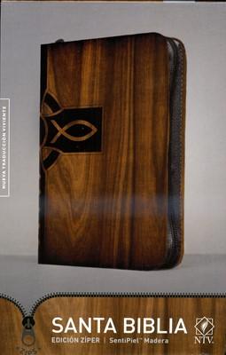 NTV Biblia Edición Zíper (Imitación Piel, madera)
