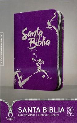 Santa Biblia NTV, Edición zíper (Imitación Piel Morada con Ziper) [Biblia]