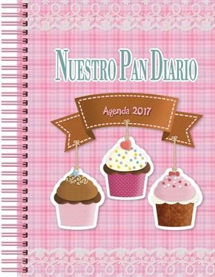 Agenda 2017 Nuestro Pan Diario Juvenil (Tapa dura floral con espiral)