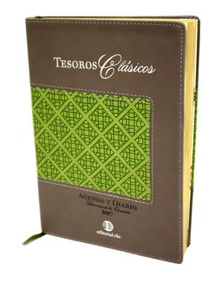Agenda 2017 Tesoros Clásicos (Piel Flexible Café-Verde) [AGENDA]