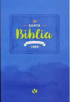RVR 1960 Biblia Económica Renacer (Rústica, azul)
