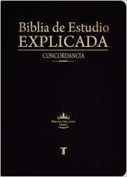 RVR 1960 Biblia de Estudio Explicada con Concordancia (Piel Especial Negro)