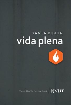 Biblia NVI De Estudio Vida Plena (Tapa Dura Gris) [Biblia]