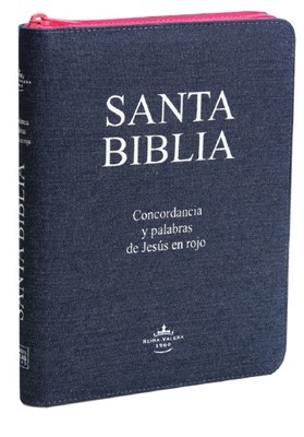 Santa Biblia Letra Gigante Jean con cierre y concordancia, (Jean)