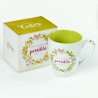 Taza with God all Things Are Possible (Caja)