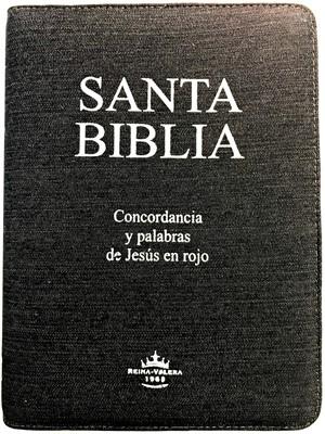 Biblia con Concordancia / Jean / Ziper / Letra Grande / Índice (Jeans)