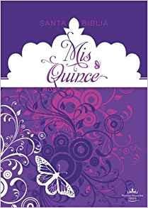 RVR 1960 Biblia Mis Quince Púrpura (simil piel)