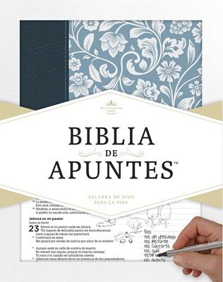 Biblia de Apuntes RVR 1960 (azul) (Imitación Piel y tela impresa)
