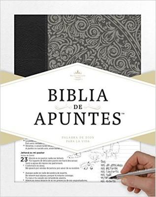 Biblia de Apuntes RVR 1960 (gris) (Piel genuina y tela impresa)