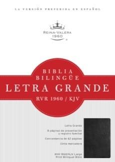 Biblia Bilingue Letra Grande (Imitación Piel Negro) [Biblia]
