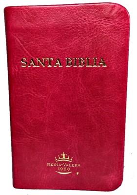 RVR 1960 Biblia Mini Bolsillo con Lupa (Imitación Piel Rosa)