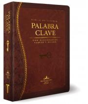 Biblia de Estudio La Palabra Clave (Marrón) (Piel Italiana)
