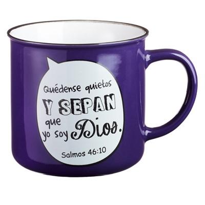 Taza Púrpura Quédense quietos y sepan