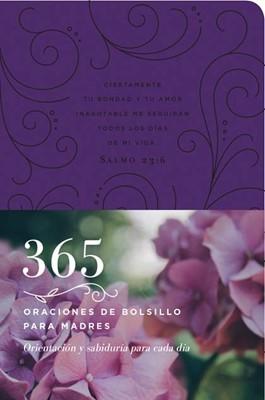365 Oraciones de Bolsillo para Madres (Piel fabricada, morado)