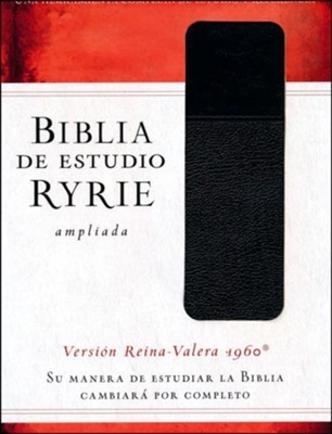 RVR 1960 Bilia de Estudio Ryrie Ampliada (Semi piel dos tonos negro)