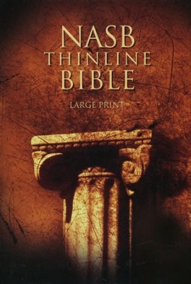 BI - NAS Thinline Bible, Large Print, Hardcover