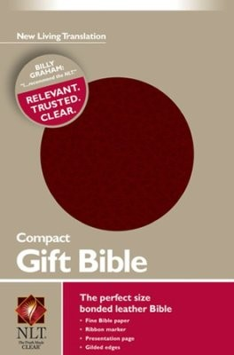 NLT Compact Gift Bible (Bonded Leather, Burgundy/maroon)
