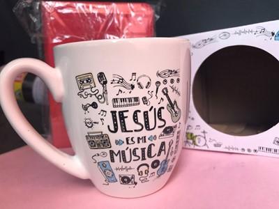 Taza JCruz - Vida Abundante Jesús es mi Música (Cerámica)