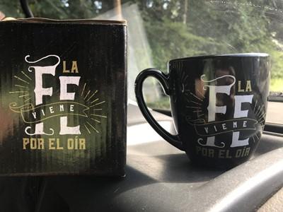 Taza JCruz - Vida Abundante La Fe viene por el Oír (Cerámica)