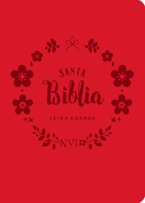 Biblia NVI Bolsillo Letra Grande C Italiano Roja (Piel)